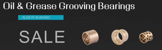 Precision Flanged Groove Cast Bronze Bushings Spiral Inside Groove Bearings