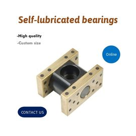 Robotics Bronze Sleeve Lube Guide Solid Bronze C86300 Graphite Bushing Inch Size sankyo oilless